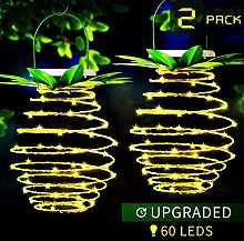 MZD8391 2Pack 60LED Pineapple Solar Lantern Lights