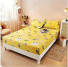 MZP Twin Fitted Sheets Only 26cm 100% Cotton