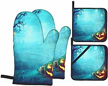 MZTYPLK Oven Mitts and Pot Holders 4pcs