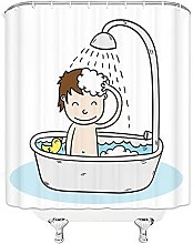 MZYZSL Shower Curtain Child Jolly Shower