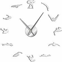 N/A DIY wall clock Swimming Theme Modern DIY
