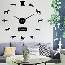 N/A PYIQPL Hound Dog Designer Wall Clock
