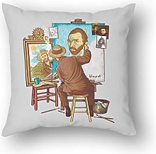 N / A Van Gogh Triple Self-Portrait Square Throw