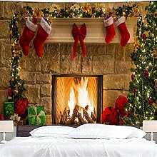 N/A Tapestry 3D Printing Christmas Backdrop Wall