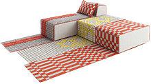 n° 2 Bandas Modular sofa - 1 rug + 2 poufs Large