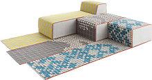n° 3 Bandas Modular sofa - 1 rug + 1 pouf Small +