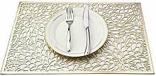 "N/A"" Place mats silver set of 6 PVC table mats"