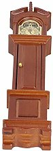 N#A 1/12 Dollhouse Grandfather Clock, Movable