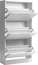 N\A 3 Drawer Shoe Cabinet Cupboard,Wooden Standing