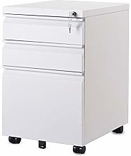 N\A 3 Drawer Steel Filing Cabinet with Lock and