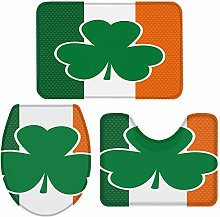 N\A 3-Piece Bath Rug and Mat Sets, Patriotic Irish