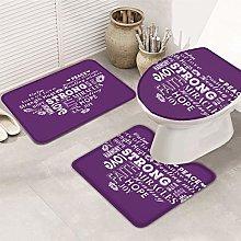 N\A 3-Piece Bath Rug and Mat Sets, Positive Energy