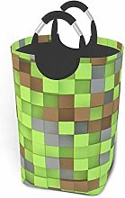 N\A 3D Green and Brown Cubes Storage Baskets