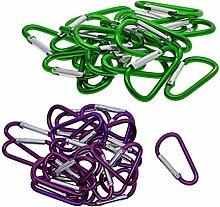 #N/A 40 Pieces D-shaped Carabiner Clips Backpack