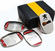 N/A 4Pcs Car Styling Door Lock Cover, For Peugeot