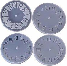N/A. 4PCS DIY Clock Resin Mould, Arabic Roman