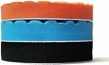 N A 6/7 Inch 3pcs Car Foam Sponge Polishing Pads