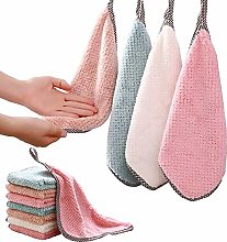 N\A 8 Pcs Dish Drying Towels Cleaning Cloth Coral