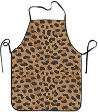 N\A Art Cheetah Leopard Print Aprons Bib Adult