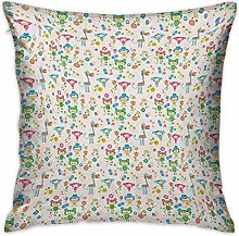 N\A Baby Square Throw Pillow Covers Spring Funny