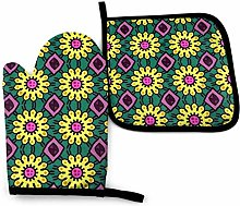 N\A Beauty Orange Oven Mitts and Pot Holders Sets,
