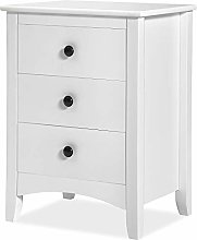N\A Bedside Cabinet White Chest of Drawers Bedroom