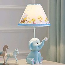 N / A Bedside Table Lamp, Resin Elephant Desk Lamp