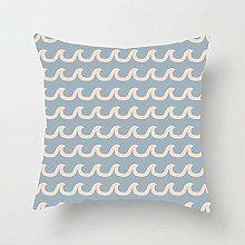 N\A Beige Anchor Blue Baby Boy Nautical Wave