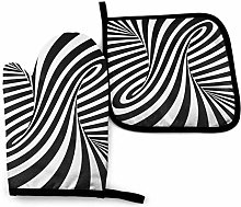 N\A Black and White Spiral Optical Illusionobjects