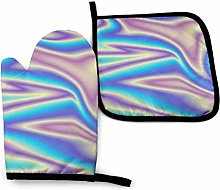 N\A Blue Oven Mitts and Pot Holders Sets,