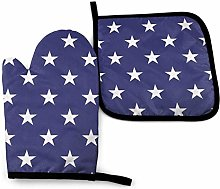 N\A Blue Star Oven Mitts and Pot Holders Sets,