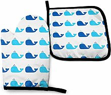 N\A Blue Whale Oven Mitts and Pot Holders Sets,
