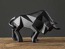 N\A Bull Statue Bullfight Sculpture Ox Resin