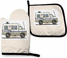 N\A Camping White Car Oven Mitts and Pot Holders