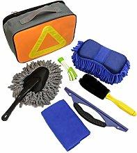 N / A Car Wash Kit Microfiber Cleaning Cloth,