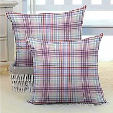 N\A Checkered Bed or Sofa Pillows Case for Your