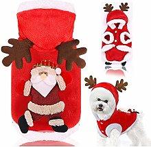 N\A Christmas Pet Clothes,Dog Hoodie Christmas,Dog