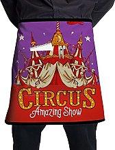 N\A Christmas Retro Circus Tent Chef Waist Apron