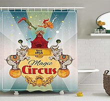 N\A Circus Decor Shower Curtain Set, Magic Circus