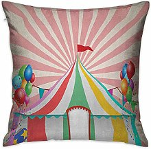 N\A Circus Square Custom Pillowcase Old Style