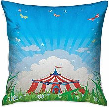 N\A Circus Square Personalized Pillowcase