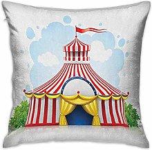 N\A Circus Square Pillowcase Covers Striped