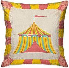 N\A Circus Square Throw Pillow Covers Circus Tent
