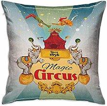 N\A Circus Square Travel Pillowcase Magic Circus