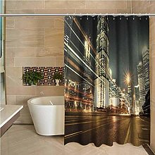 N / A City Hotel Quality Polyester Shower Curtain