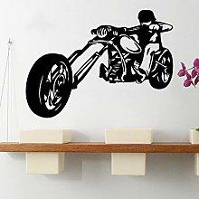 N / A Cool motorcycle vinyl wall sticker