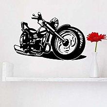 N / A Cool Motorcycle Wall Art Sticker Mural