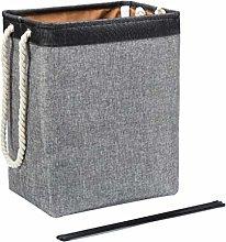 N-A Cotton linen linen laundry basket geometric