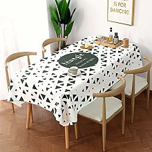 N / A CZCBD Tablecloth Simple Thick Cotton Linen