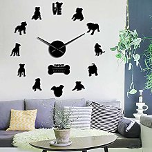 N / A DIY wall clock Staffordshire Bull Terrier